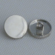 Flat top classic design shirt button sterling silver buttons