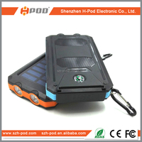 portable dural waterproof solar power bank shockproof dustproof charger for mobile phone