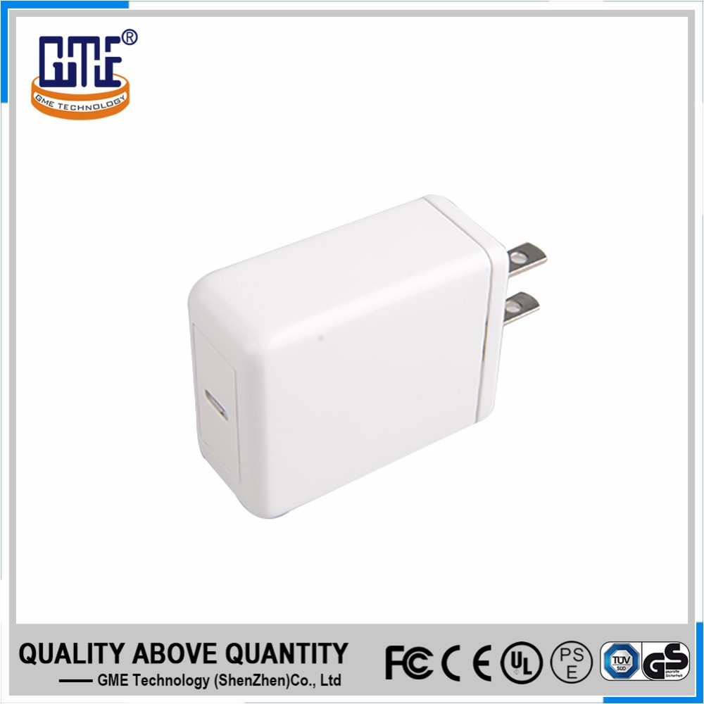 White wall mount 18w smart QC3.0 quick charger