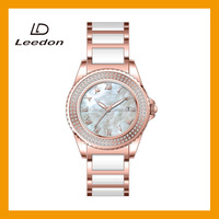 fashion lady bracelet watches with diamond in case