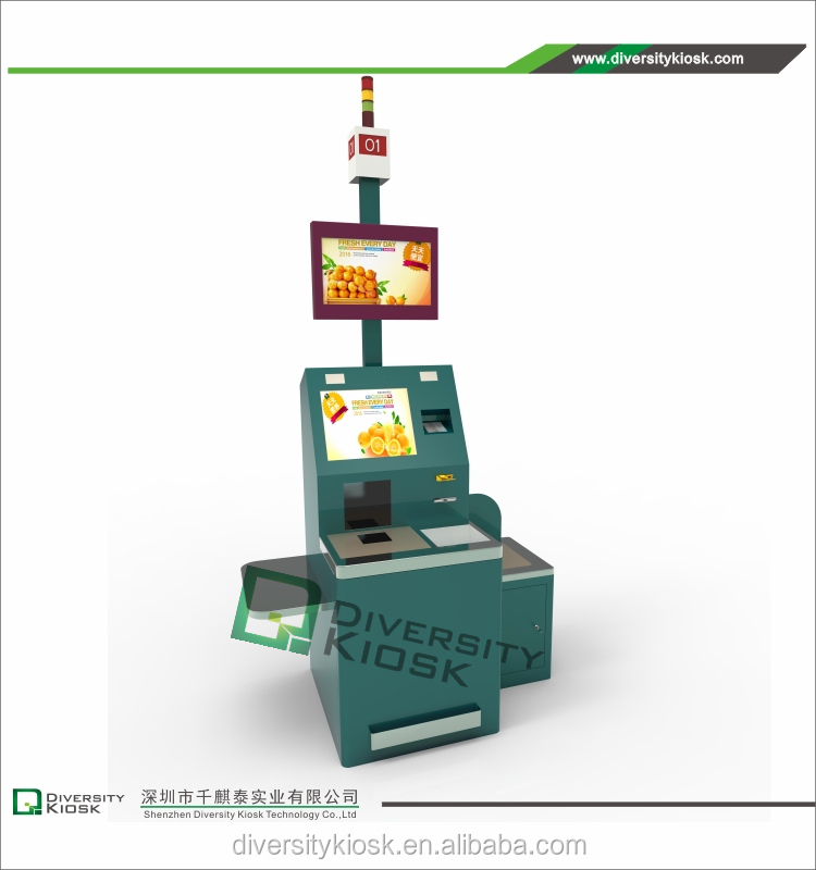 Installation Free Card Reader Enterprise Self Service Kiosk Delta Check in Kiosk by Cashless Payment