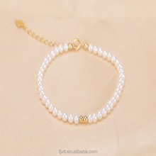 Gorgeous and Nobby Daily Wear High Quality White Color Cheap Fresh Water Pearl Women Bracelet