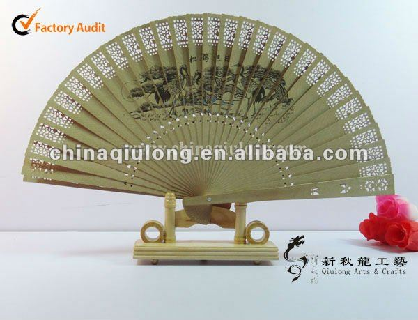 factory price of sandalwood folding hand fan with high quality!!