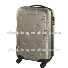 silver travel luggage, abs and pc travel luggage, 4 wheels travel luggage