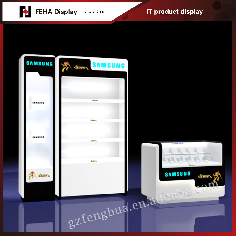 mobile phone shop interior design / cell phone stand for shop mall