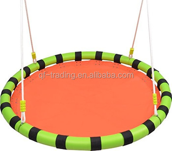 Portable hanging baby round metal swing outdoor swing set