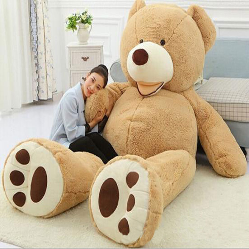Huge Size 260cm Giant Bear Skin Empty Soft Huge Bear Toys Comfortabling Plush Valentine's Day Love Gifts Toys for Lovers
