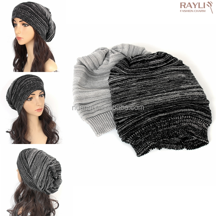 2016 Winter Chic Pop Oversized Ski Hat Knitted Slouch Baggy Beanies Hats for Men Women