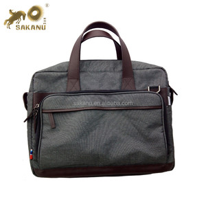 Waterproof leather computer laptopbag Business Briefcase Document Bag