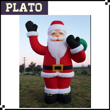 30' outdoor inflatable christmas cartoon, inflatable christmas santa claus for sale