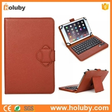 Detachable Wireless Bluetooth Keyboard Leather Case for Tablet PC with a Kickstand 7 inch 8 inch