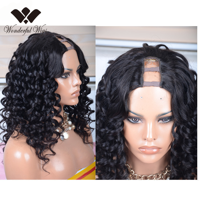 grad 8A brazilian virgin hair u part wig cheap remy human hair u part wig cap u-part wigs for black women