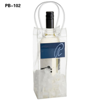 Custom Printed Top Quality Recyclable Transparent PVC Wine Beer Bottle Ice cooler Carrying Bag