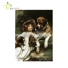 famous child and dog oil paintings handpainted oil painting with high quality