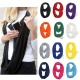 Wholesale Amazon Hot Fashion Cotton Knitted Pocket Scarves Multi-Function Soild Loop Women Infinity Scarf With Zipper Pocket