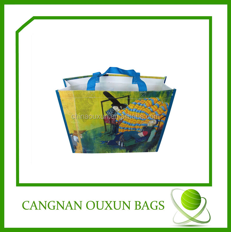 2014 New style laminated woven bag,recycled woven polypropylene shopping bags,poly woven bag