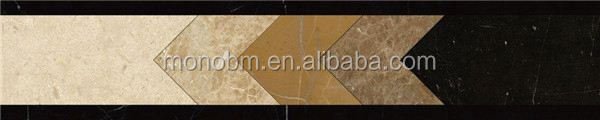 Indian marble waterjet border designs crushed marble stone