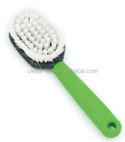 Oval pet grooming brush for dogs