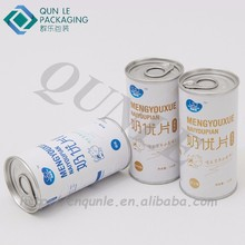 Custom Printed Small Milk Tablets Paper Composite Cans