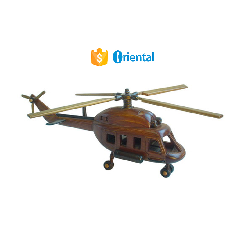 Wooden Models - helicopter with 4 blades - #PL-12-6106A