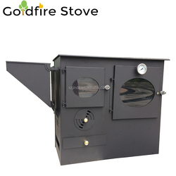 Modern European Biomass Pellet Stove with Oven