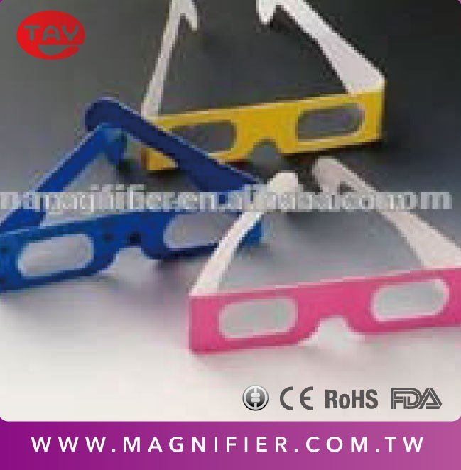 Custom paper frame Chromadepth 3D FIREWORKS DIFFRACTION GLASSES