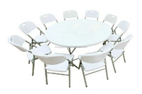 outdoor folding furniture/4ft round table for banquet/modern design round caters table/mealing white color strong plastic tables