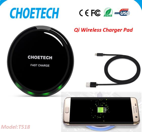2017 new produt Choetech Qi wireless charger 10W fast charging wireless mobile phone charger pad