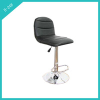 black leather high end bar stools