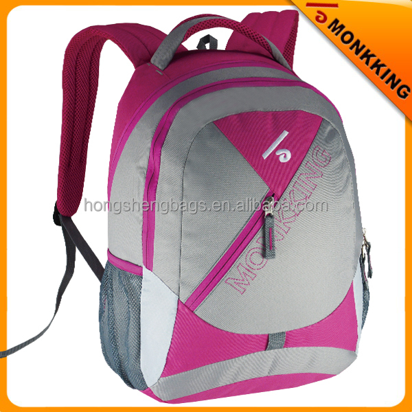 2016 customzied new design waterproof school backpack factory directly