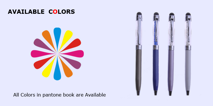 High Quality Crystal Stylus Touch Screen Pen,free pen sample