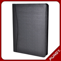 Professional high quality a4 size leather document portfolio case