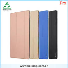 For ipad Pro Triple Folding Locke Skinfeel Series PU Leather Case Stand Holder Leather Case For iPad pro