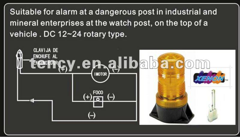 High quality amber car warning light, Forklift Safety Light Tube,KF-WB-36X,Xenon/ Flash,with E-mark certificate