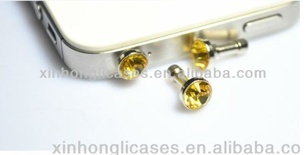 New Fashion Crystal Dust Plug For Mobile Phones