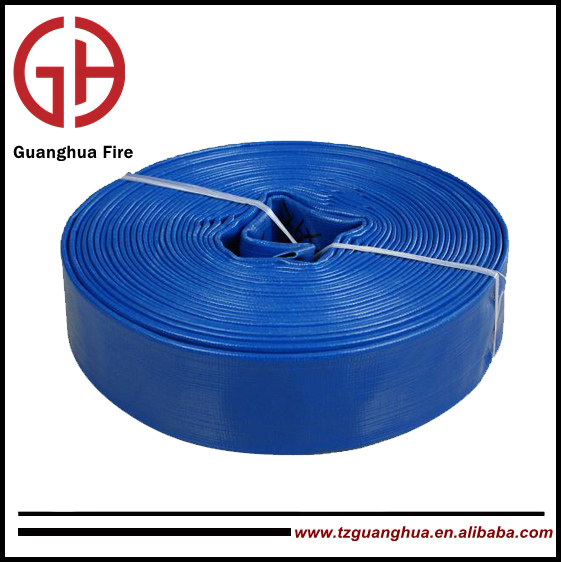 PVC layflat garden water hose with nozzle best price fire fighter equipment