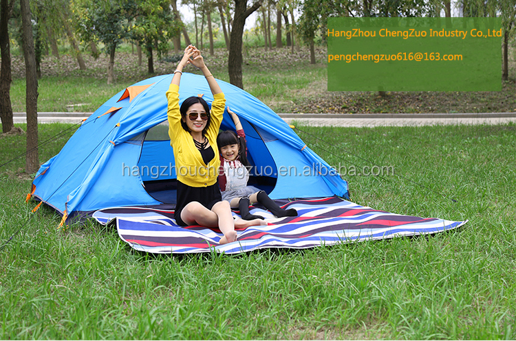 Hot Sale Fashionable Double Layer Aluminum Pole 1-2 Person Waterproof Camping Tent, CZ-0088 2 Person Outdoor Tent