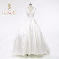 2016 New Elegant Sweetheart Off Shoulder White Ivory Satin Wedding Dress Bridal Gown Chapel Train Vintage Princess A-Line