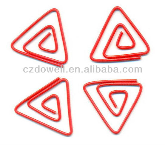 triangle metal paper clips