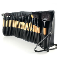New arrival cosmetics professional makeup brush set 32 piece with nylon hair and wooden handle