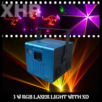 Multi color SD Card 3000mw Stage Laser Light Animation Writing Laser Light For Wedding