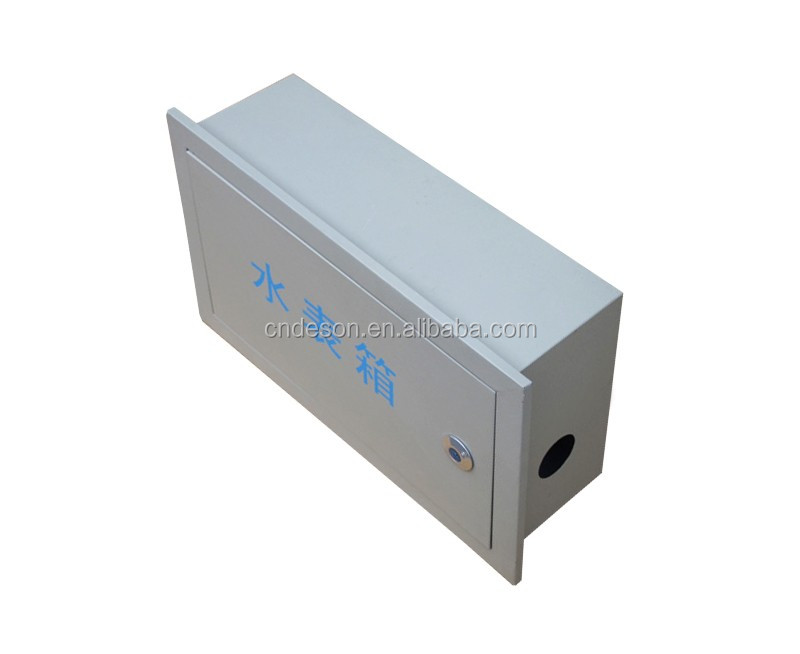 Cheap Metal Water Meter Enclosure Box Electric Water Meter Cover for Single Meter
