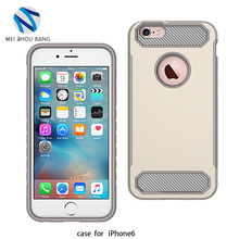 Hybrid Shockproof Case Carbon Fiber Texture Soft TPU+PC Case For iPhone 6 Back Cover