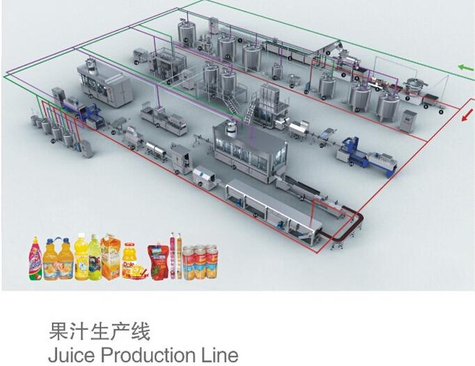 Complete Fresh Fruit Beverage Production Line Juice
