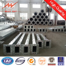 Galvanized Metal Post Utility galvanized steel pole support 12m-800 daN for transmission line