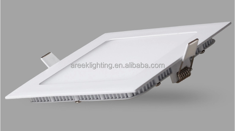 12W square LED Recessed panel light,6000k(Day white), AC85-265V, Factory Price