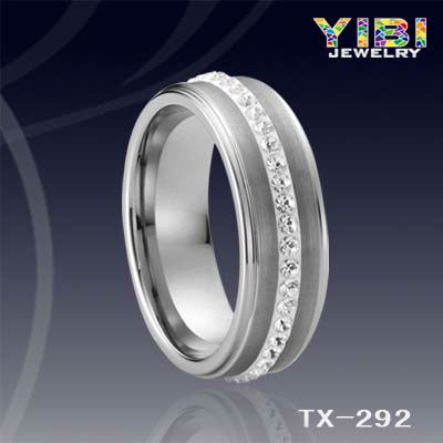 top 100 christmas gifts 2013 tungsten spinning ring cz crystal ring