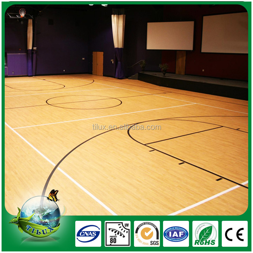 High quality sports ground pvc flooring for basketball field
