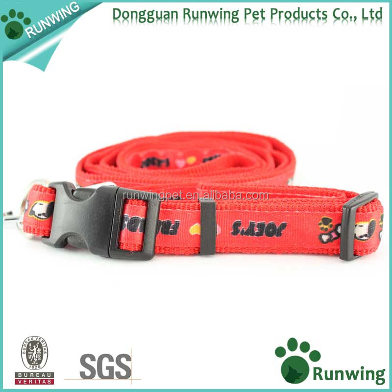Dog Training Leash & Collar Heat Transfer Printing Pet Puppy Long Strap Durable Buckle