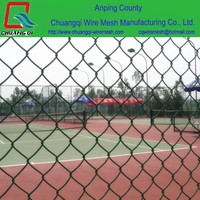low price good quality used galvanized pvc coated chain link fence